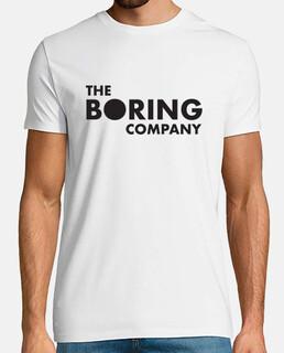 The Boring Company Hombre, manga corta, blanco, calidad extra