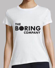 The Boring Company Mujer, manga corta, blanca, calidad premium