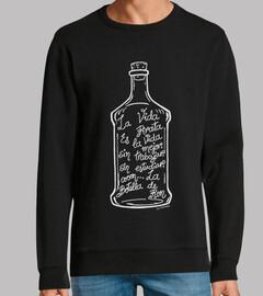 the bottle of rum.