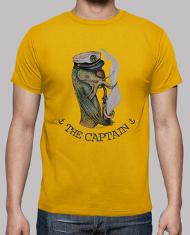THE CAPTAIN - camiseta chico-amarilla