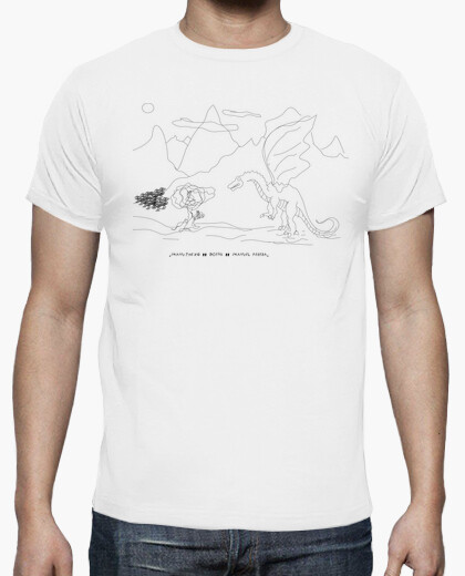 The cat and the dragon t-shirt