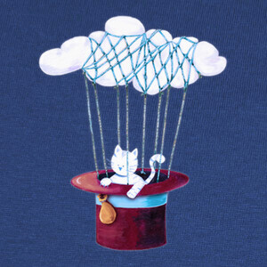 T-shirt The Cat Traveling in Dreams