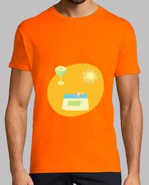 the end of summer: man t-shirt