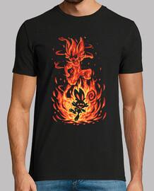 the fire bunny inside - camisa para hombre