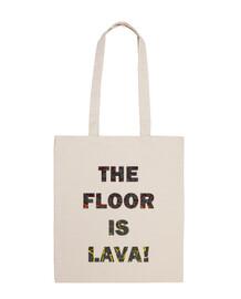 the floor is lava bag