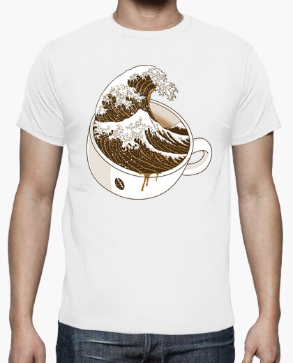 The great wave off coffee t-shirt