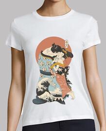 the kiss ukiyo e shirt femme