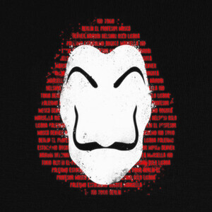 Camisetas The mask of names