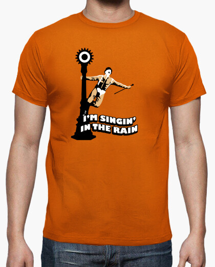 The mechanical orange singing in the rain t-shirt
