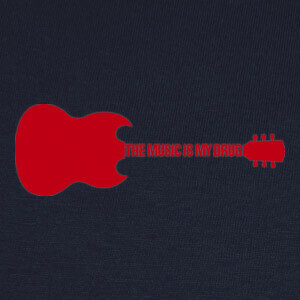 Camisetas The music is my drug