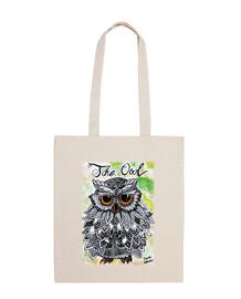 The Owl - Bolsa tela 100 algodón
