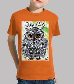The Owl - Niño, manga corta, naranja