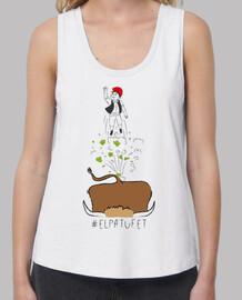 the patufet - samarreta noia, amb tirants amples i loose fit (sizes