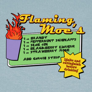 Camisetas The Simpsons: Flaming Moe´s
