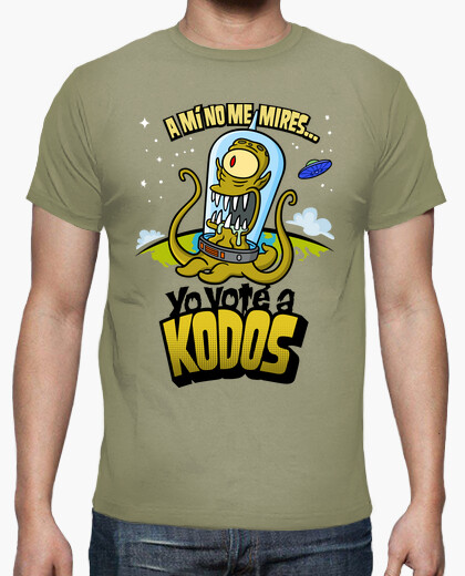 The simpsons: i voted for kodos t-shirt