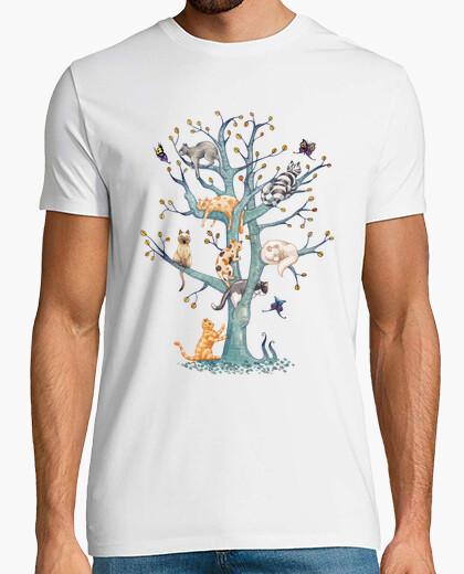 Camiseta The tree of cat life