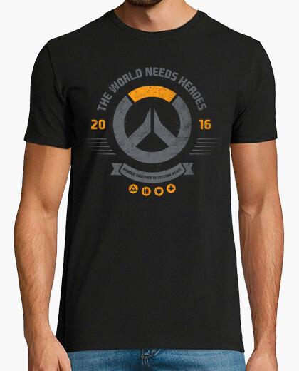 The world needs heroes t-shirt