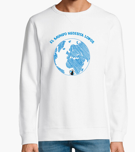 The world needs wolves, unisex sweatshirt....