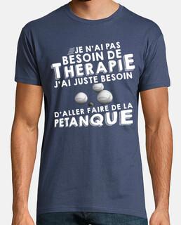 Petanque Cadeau Boccia Homme Humour Bouliste P/étanque T-Shirt