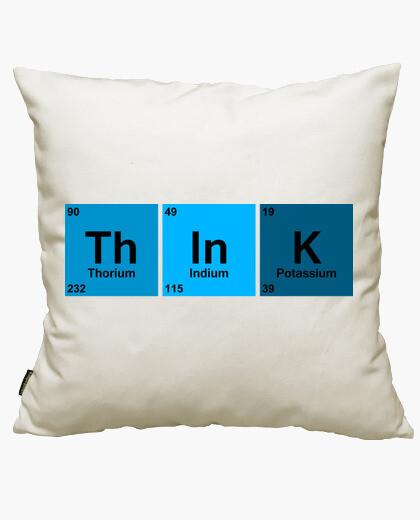 Think blue cushion cover
