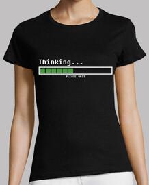thinking ... please wait (woman)