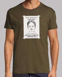 This man is a pervert camiseta hombre