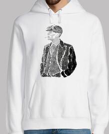 Thomas Shelby Hombre, jersey con capucha, blanco