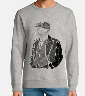 thomas shelby homme, sweat-shirt, gris vigoureux