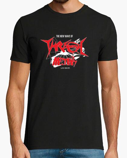 Camiseta THRASH METAL - blanco y rojo