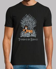 throne of bones - t-shirt da uomo