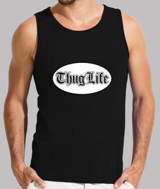 Thug Life Hombre, sin mangas, negra