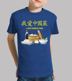 ti amo cinese food t-shirt bambino