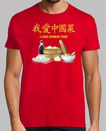 ti amo cinese food t-shirt da uomo