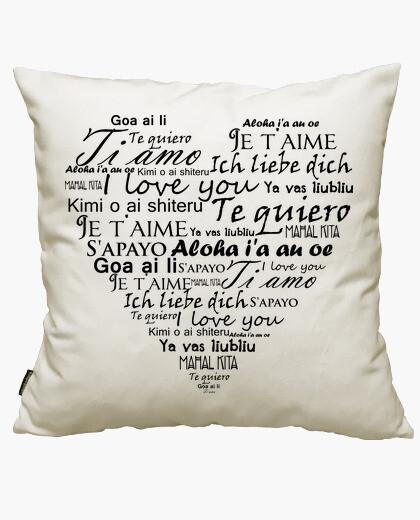Fodera cuscino Ti amo in varie lingue