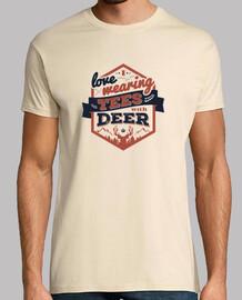 ti amo indossare magliette tshirt uomo con cervi