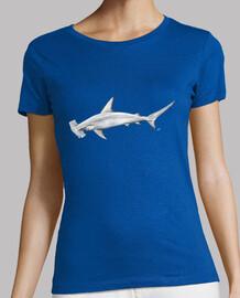 Tiburón martillo camiseta mujer