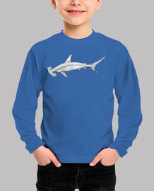 Tiburón martillo camiseta niño