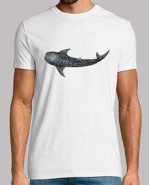 Tiburón ballena para buceadores camiseta hombre