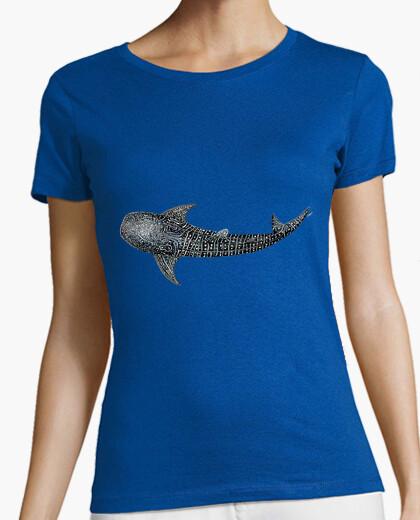 Tiburón ballena para buceadores camiseta mujer