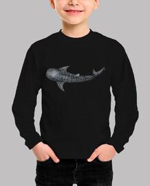 Tiburón ballena para buceadores camiseta niño