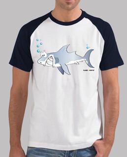 Tiburón béisbol hombre