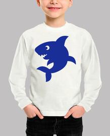 tiburón cómico azul