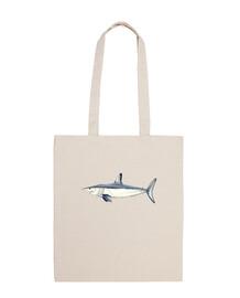 Tiburón Mako - Bolsa tela 100 algodón