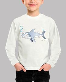 Tiburón niñx manga larga