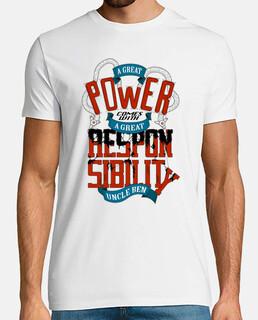 tiene un gran poder conlleva una gran respons camisa con un hombre