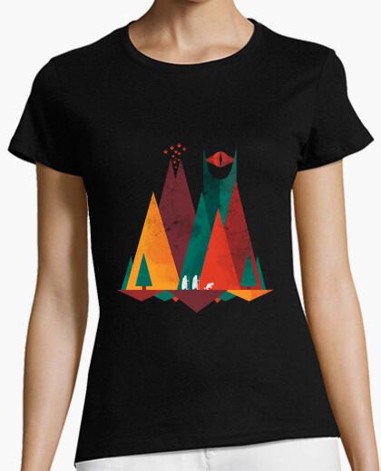 Camiseta tierra media geométrica