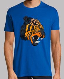 tiger brüllen t-shirt v-ausschnitt