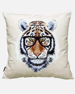 tiger gesicht mit brille