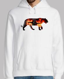 Tiger Riot.   Hombre, jersey con capucha, blanco