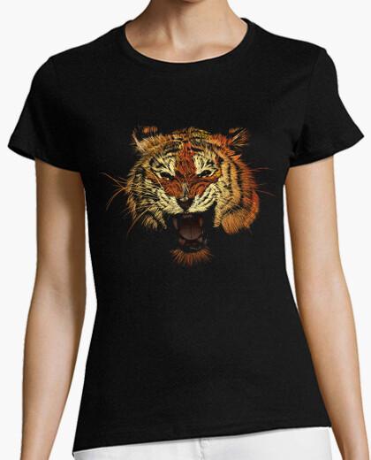 Tiger roar color t-shirt